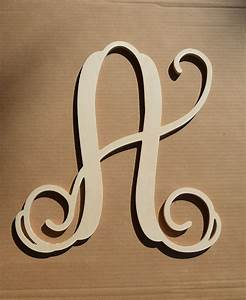 24 inch wooden monogram letter by eleganceletters on etsy With 24 inch unfinished wood letters
