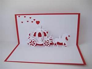 Hochzeitskarte Basteln Vorlage : pop up karten pop up karte hochzeit kutsche ein designerst ck von bastel preussin bei ~ Frokenaadalensverden.com Haus und Dekorationen