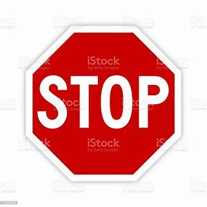 Stop, Sign, Icon, With, Shadow, Vector, Stock, Illustration, -, Download, Image, Now