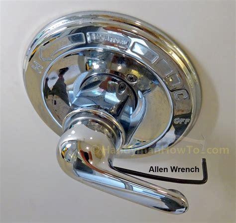 remove  shower handle set screw