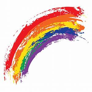 Watercolor oil painting rainbow background vector 01