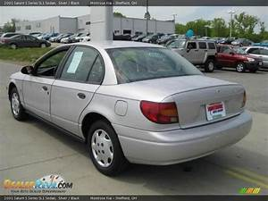 2001 Saturn S Series Sl1 Sedan Silver    Black Photo  6