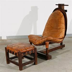unusual handmade chair and ottoman at 1stdibs With unusual homemade furniture