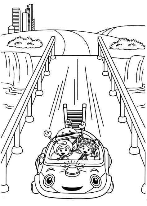 Coloring Sheet by Free Printable Team Umizoomi Coloring Pages For