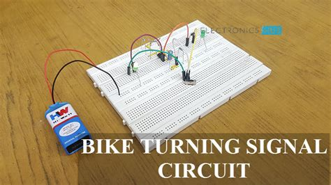 bike turning signal indicator circuit   timer