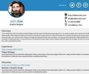 Resume Template For Field Free Single Slide Resume Template For Powerpoint Free Powerpoint Templates Slidehunter Com