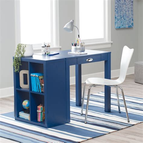 playtime mini writing desk with optional bookcase navy bookcases at hayneedle