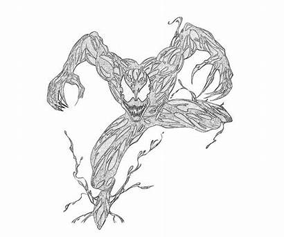 Carnage Coloring Pages Marvel Ultimate Alliance Spider