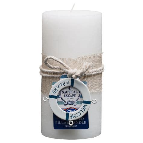 bm nautical pillar candle  aboard
