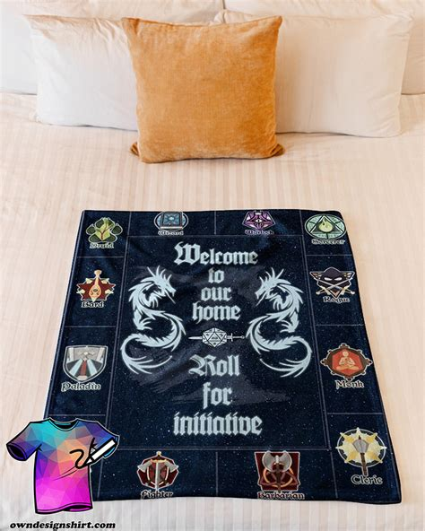 dungeons dragons welcome blanket fleece sign quilt join selling
