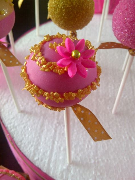 pink and gold cake pops www imgkid the image kid