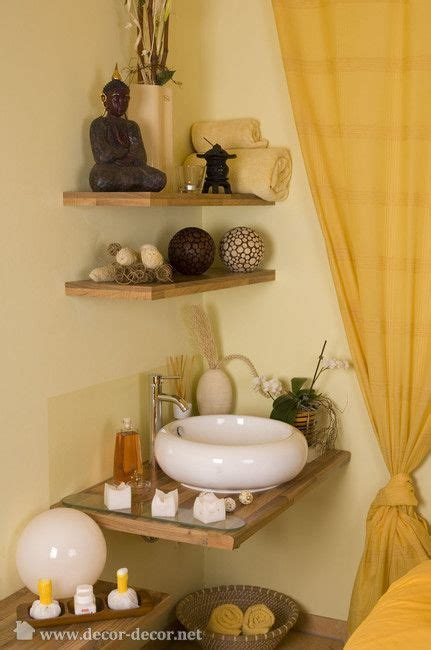 Spa Bathroom Decor by Corner Shelves Feng Shui Decorating Spa Room Decor