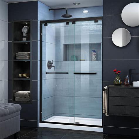 dreamline encore      frameless sliding shower