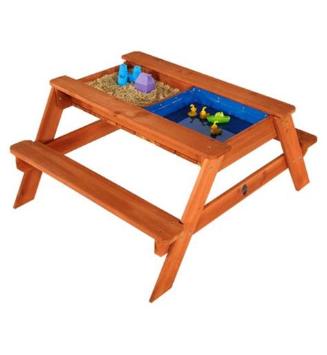 baby activity table wooden picnic activity tables outdoor toys kids by