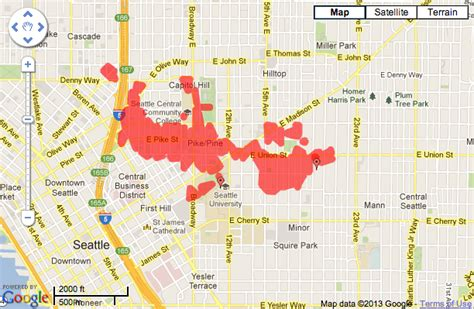 seattle city light power outage map power outage hits big swath of hill after truck rips