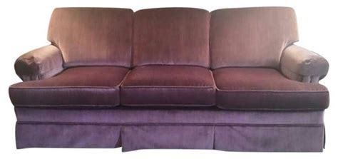 shimmer velvet lavender anywhere chair vintage plum purple slipcovered velvet sofa sofas by