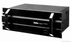 Hafler Xl-600 - Manual - Stereo Power Amplifier