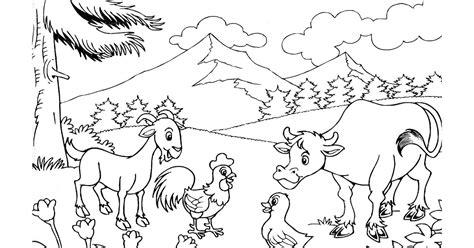 sketsa gambar untuk anak tk mewarnai