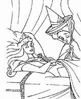 Sleeping Beauty Coloring Pages Princess Movie Disney Asleep Aurora Coloring2print sketch template