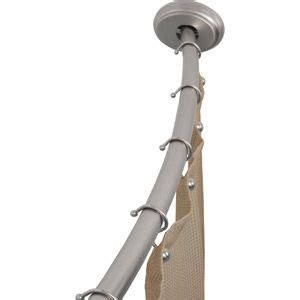 canopy curved shower rod brushed nickel 36 96 from
