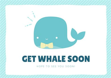 light teal  whale     card templates