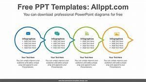 Circle Connection Flow Powerpoint Diagram Template