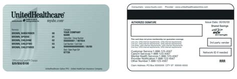 united healthcare choice plus phone number pin united healthcare card sle on