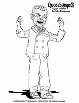 Slappy Goosebumps Coloring Pages Dummy Halloween Drawing Play Sheets Printable Cartoon Goose Template Bumps Tree Wants Adult Templates Activities Decorations sketch template