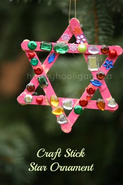 craft ornaments craft stick star ornaments for toddlers happy hooligans