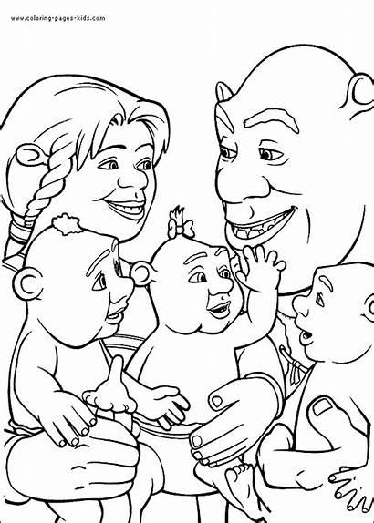 Shrek Coloring Pages Cartoon Printable Character Sheets