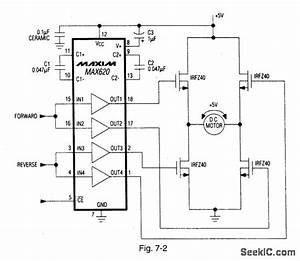 H Bridge Dc Motor Controller - Power Supply Circuit - Circuit Diagram