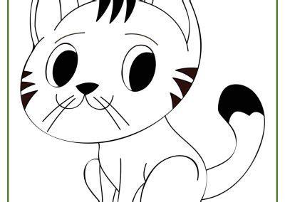 dibujos de gatos bonitos gatos  gatitos  colorear  pintar