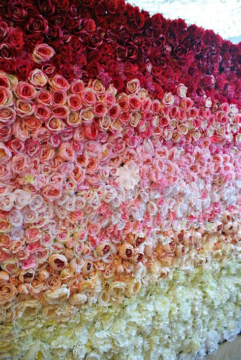 garden rose ombre flower wall ombre flower wall floral