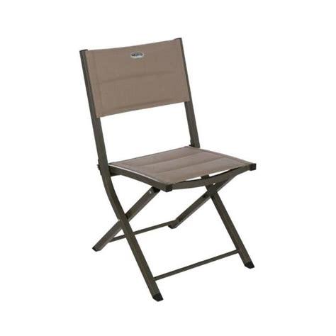 chaise pliante exterieur chaise exterieur pliante essentia taupe achat vente