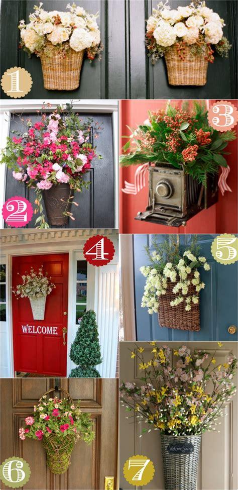 creative front door decor ideas   wreath home