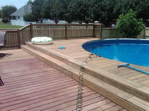 pool decking decks and handrail information