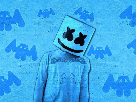 Desktop Wallpaper Marshmello, Dj, Art, Blue, Hd Image, Picture, Background, Tcwgs6