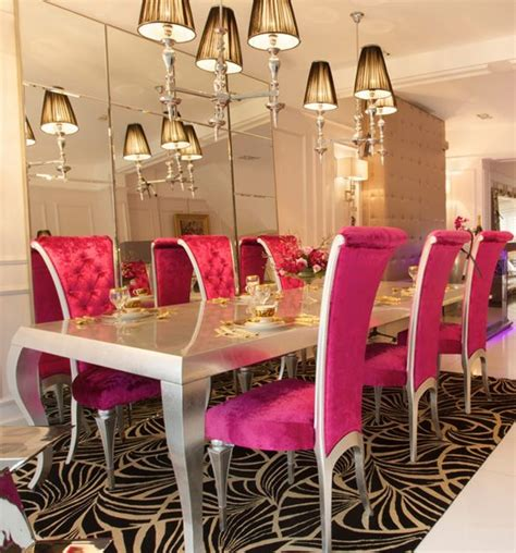 high  silver  pink dining set luxury dining room dining dining room furniture sets
