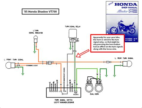 1988 honda shadow vt1100 turning signal wiring diagram 2007 honda shadow 600 rays