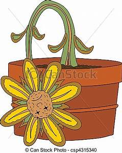 Vector illustration of a dead flower vector clipart
