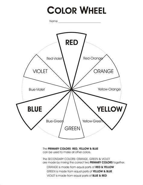 printable color wheel worksheet color wheel worksheets coloring pages and other random