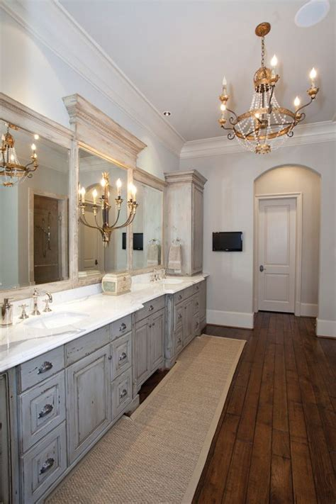 wood floors antique chandelier gray cabinets beautiful