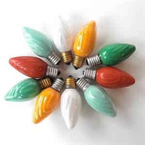 10 vintage christmas light bulbs swirl c9 glass christmas