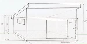 ossature bois pour toit a une pente With plan de cabanon de jardin