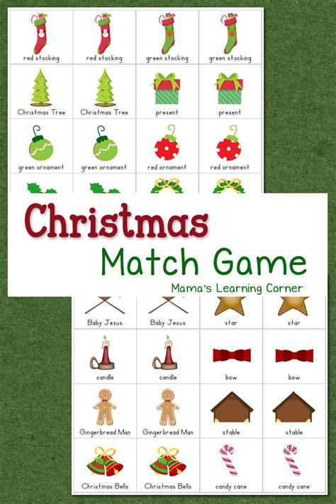 Christmas Match Game  Mamas Learning Corner