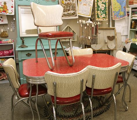 red retro kitchen table chairs  red   decoration challenge interior exterior ideas