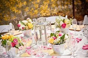 Centre De Table Champetre : decoration de mariage champetre et printaniere ~ Melissatoandfro.com Idées de Décoration