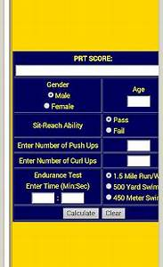 Apft Chart 2014 Army Fitness Calculator Pro Apk Download Apps On Play Store