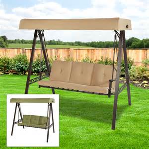 Patio Swings With Canopy Walmart by Replacement Canopy For 3 Person Swing Beige Riplock