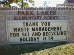 garden lakes elementary school education waste management